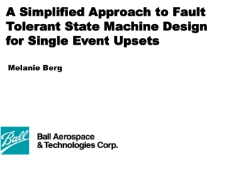 A Simplified Approach to Fault Tolerant State Machine Design for Single Event Upsets