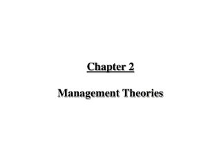 Chapter 2  Management Theories
