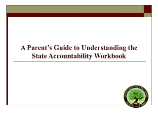 A Parent's Guide to Understanding the  State Accountability Workbook