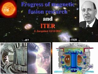Progress of  magnetic fusion  research and ITER J. Jacquinot 12/11/2013