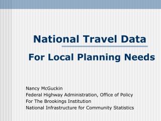 National Travel Data