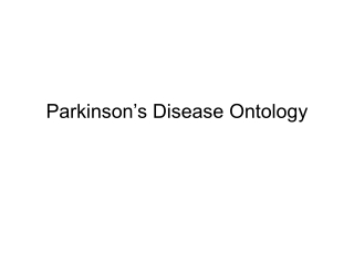 Parkinson's Disease Ontology