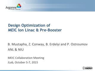Design Optimization of  MEIC Ion Linac & Pre-Booster