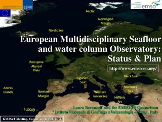European Multidisciplinary Seafloor and water column Observatory:  Status & Plan
