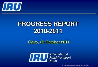 PROGRESS REPORT 2010-2011