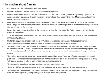Information about Gaman