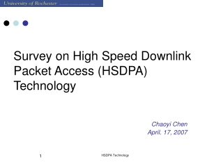 Survey on High Speed Downlink Packet Access (HSDPA) Technology