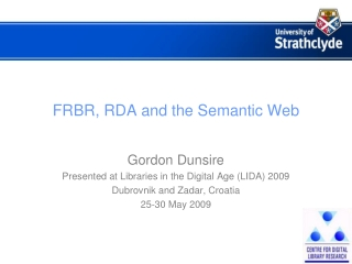 FRBR, RDA and the Semantic Web