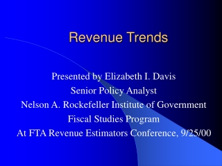 Revenue Trends