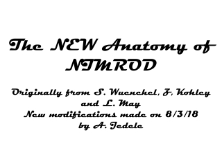 NIMROD Guide
