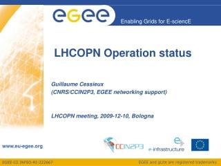 LHCOPN Operation status