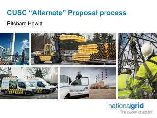 "CUSC ""Alternate"" Proposal process"