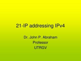 21-IP addressing IPv4