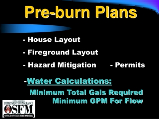 Pre-burn Plans