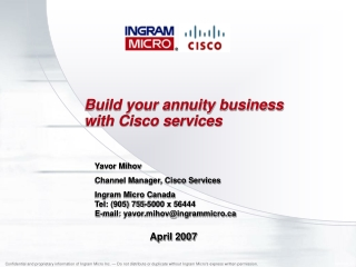 Build your annuity business with Cisco services