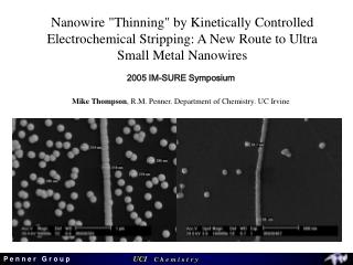 2005 IM-SURE Symposium Mike Thompson , R.M. Penner. Department of Chemistry. UC Irvine