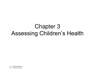 Chapter 3 Assessing Children's Health
