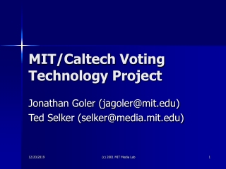 MIT/Caltech Voting Technology Project