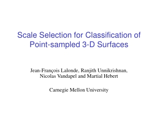 Scale Selection for Classification of Point-sampled 3-D Surfaces