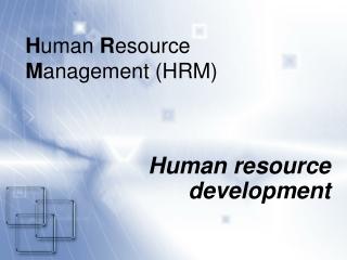 H uman  R esource  M anagement (HRM )