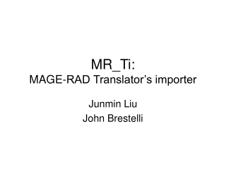 MR_Ti: MAGE-RAD Translator's importer
