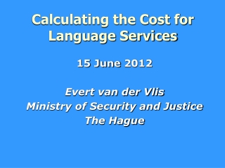 Calculating the Cost for Language Services