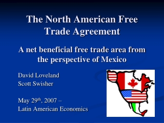 The North American Free Trade Agreement