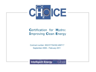 C ertification for H ydro: I mproving C lean E nergy