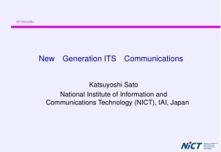 New Generation ITS Communications
