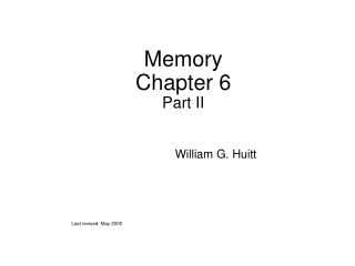 Memory Chapter 6 Part II