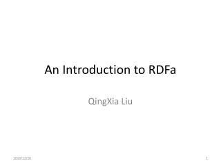 An Introduction to RDFa