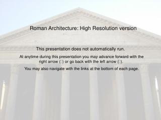 Roman Architecture: High Resolution version