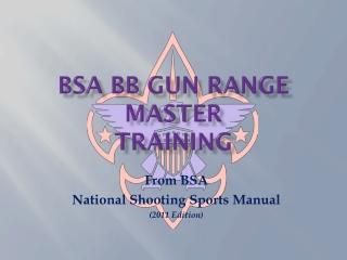BSA  BB GUN  Range Master Training