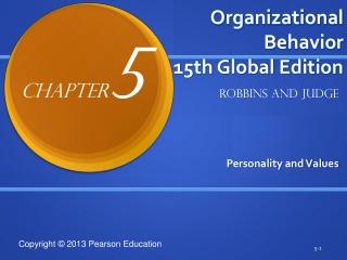 Organizational Behavior 15th Global Edition