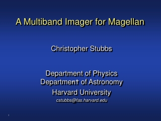 A Multiband Imager for Magellan