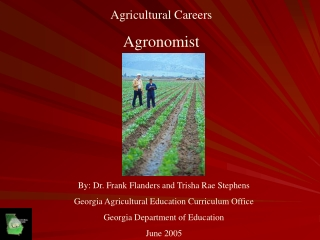 Agricultural Careers Agronomist