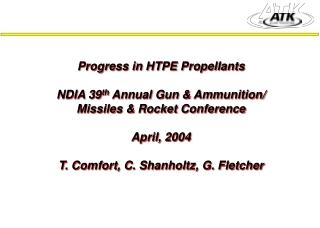 Insensitive HTPE Propellants