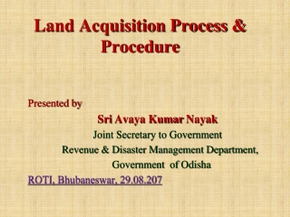 Land Acquisition Process & Procedure