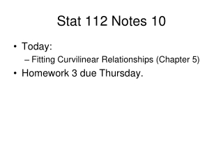 Stat 112 Notes 10