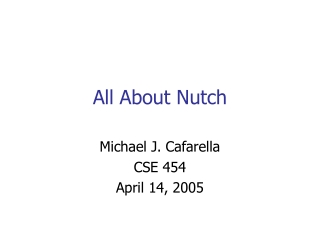 All About Nutch