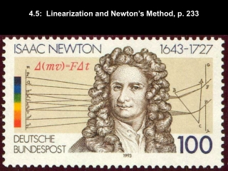 4.5:  Linearization and Newton's Method, p. 233