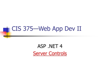 CIS 375—Web App Dev II