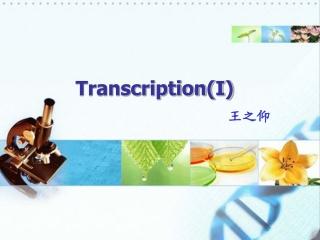 Transcription(I)