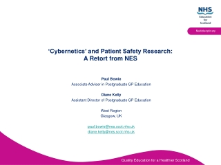 'Cybernetics' and Patient Safety Research:  A Retort from NES