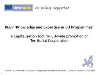 KEEP, a Capitalisation tool  for EU-wide promotion of Territorial Cooperation
