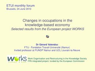 ETUI monthly forum  Brussels, 24 June 2010