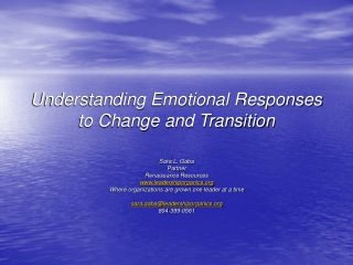 Understanding Emotional Responses to Change and Transition
