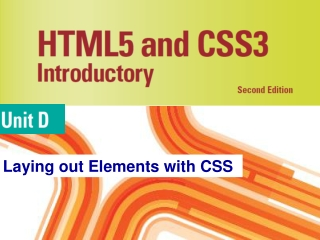 Laying out Elements with CSS