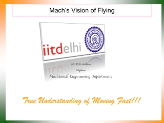 Mach's Vision of Flying