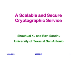 A Scalable and Secure Cryptographic Service